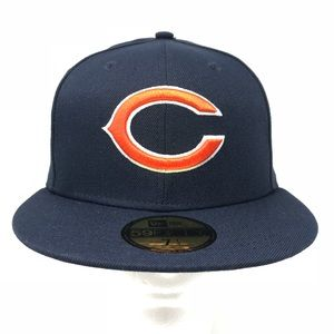 Chicago Bears NFL Fitted 59Fifty Flat Brim Hat